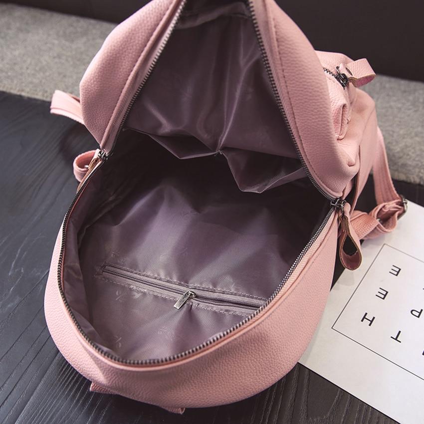 adolescentes mochila sólida mulheres bolsa Description : Fashion Solid Women Backpack
