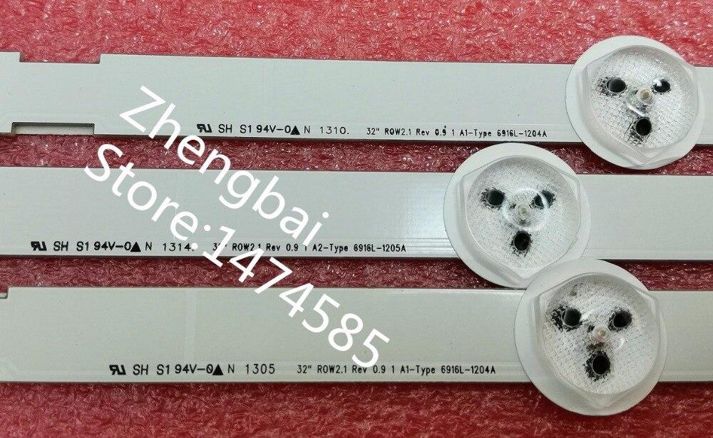 cheapest Original 3pcs LED backlight bar for LG 32LN542V 32LN5180 32LN570V 32LN545B 6916L-1204A 1205A 6916L-1105A 1106A 1295A 1296A