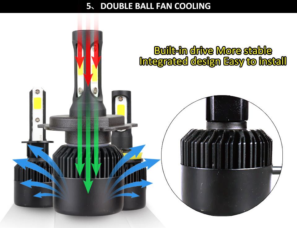 Н4 Н7 светодиодные Т1 авто лампы для мотоциклов фар н11 нв3 нв4 9006 9005 H1 и светодиодные лампочки для автомобилей 8000 лм 72 вт заменить для ксенона галогенные