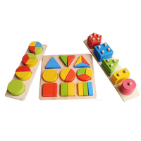 Montessori Materials Baby Wooden Geometry Fraction Decomposition Sets Column Toy Puzzle Montessori Early Learning Wooden Toys