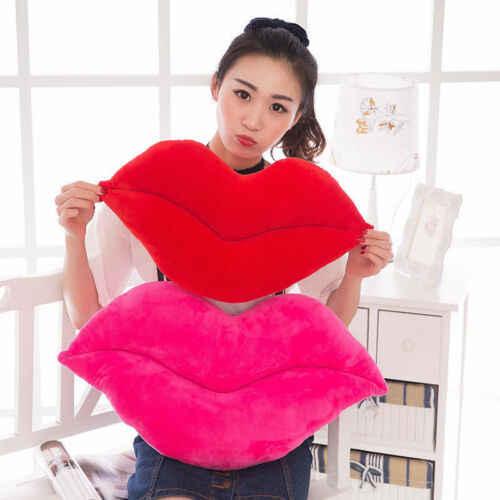 สบายๆสบายๆผ้าฝ้ายเซ็กซี่สีชมพูและสีแดงรูปหมอน Plush Love ตกแต่งเบาะ
