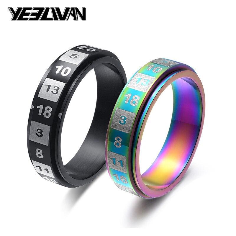 Женские кольца из нержавеющей стали, цветные черные вращающиеся кольца с тусклой полировкой, 6 мм, высококачественные модные ювелирные изде...