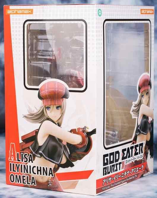 Japão anime alphamax jogo deus comedor explosão alisa ilyinichna omela 1/8 escala sexy menina pvc figura de ação brinquedo