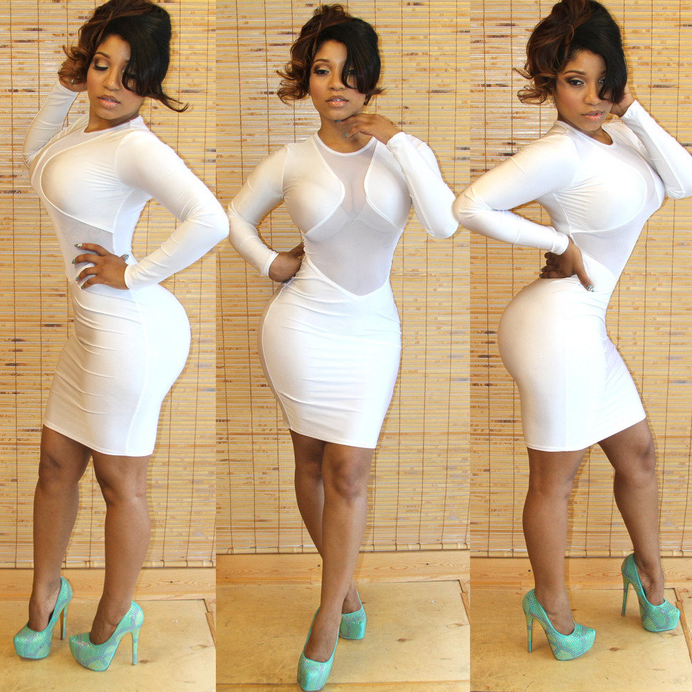 Long sleeve bandage dress ebay
