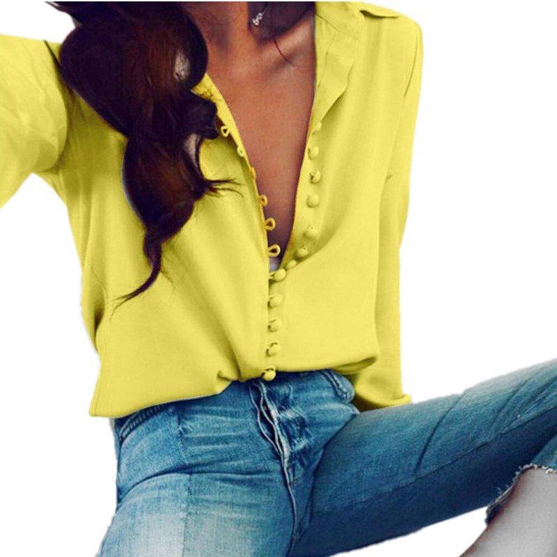 Lossky Womens  Blouse Tops Female Elegant Long Sleeve Black White Blouse Shirt Casual Streetwear Cotton Button Blouse Plus Size
