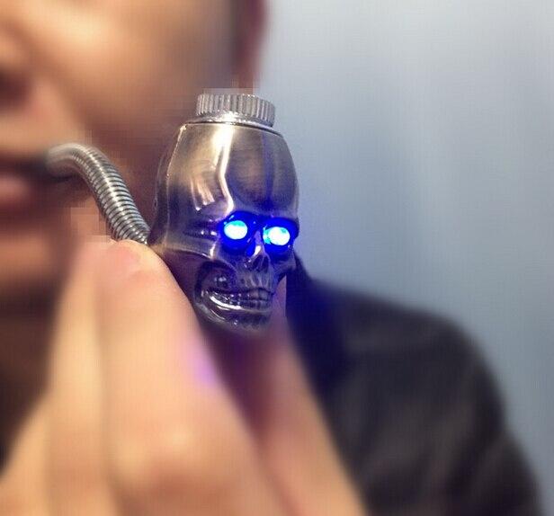 New design skull shape metal smoking pip