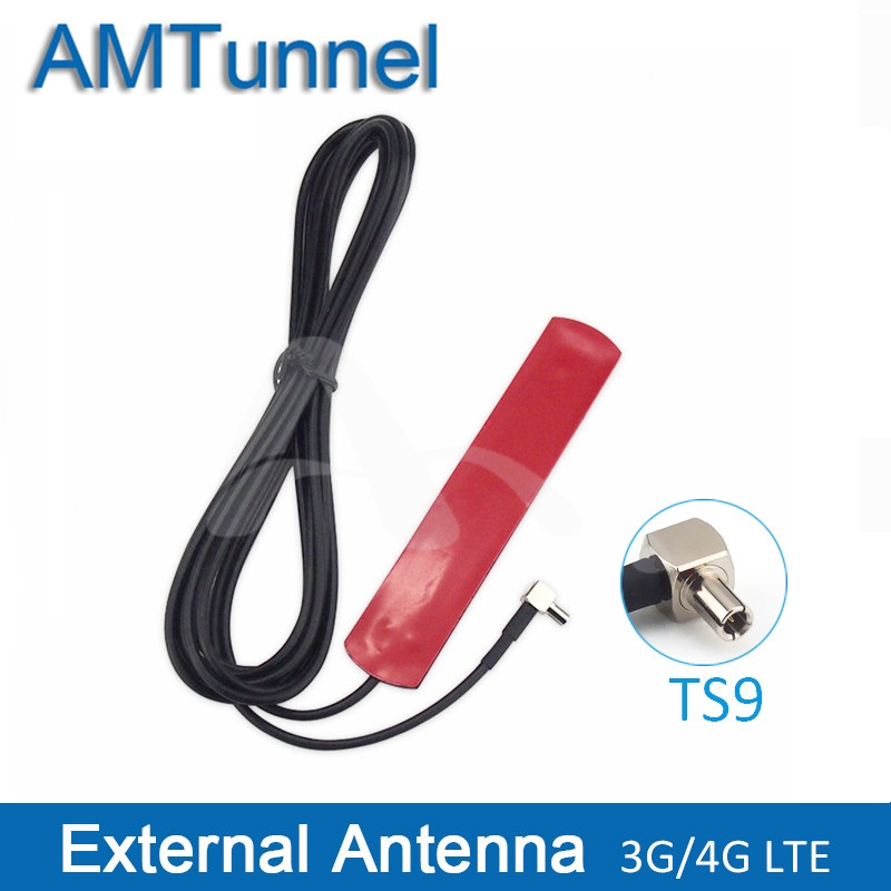 4G LTE WIFI Antenna 3G Patch Antenna 700-2600MHz TS9 Male External Antenna With 3M Extension Cable For Huawei Router Modem
