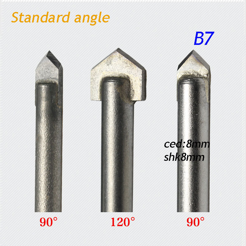 1pc standard 8*8mm 90 degree angle alloy Router Bits CNC engraving cutter Stone Carving Tools B7 10pcs box 1 8 inch 0 8 3 17mm pcb engraving cutter rotary cnc end mill milling cuter drill bits