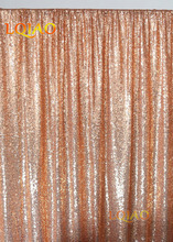 8x8ft-Rose gold Sequin Backdrop Photo Booth Curtain Shimmer Sequin Fabric Photography Wedding Image Decoration-More Color Option