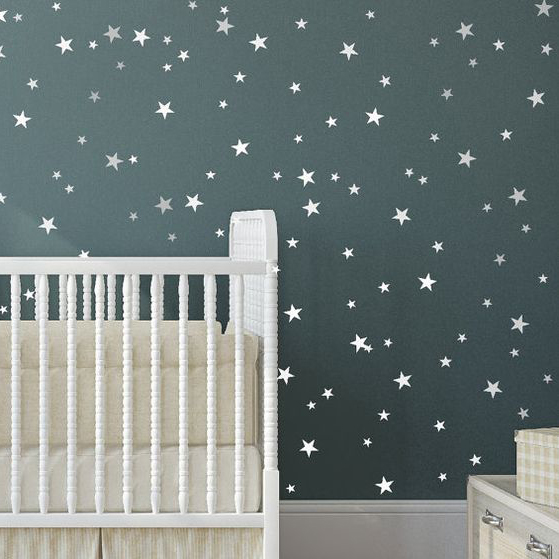 Cute Star Wall Sticker Baby Nursery Stars Wall Decal Diy Easy Wall Decors Kids Room Children
