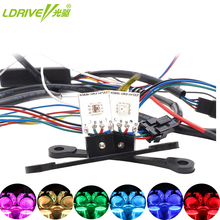 2Pcs/Lot Car Styling Single Bead RGB Colorful LED Devil Eyes App Control Demon Eye DIY For Headlight Projector Lens Retrofit
