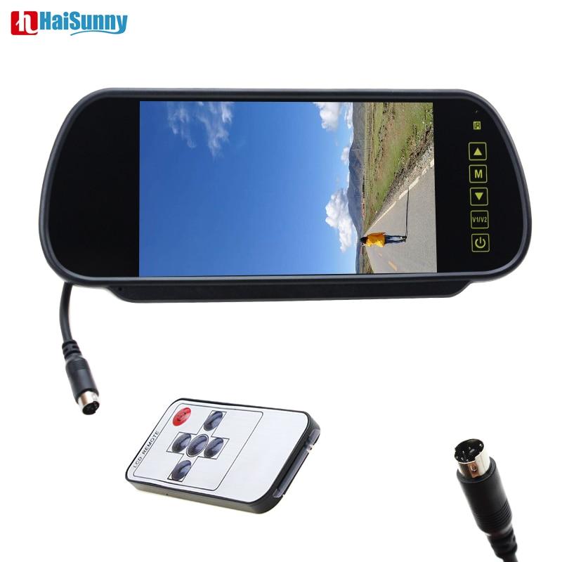 HaiSunny 1 an de garantie 7 ''couleur TFT LCD voiture rétroviseur moniteur Auto véhicule Parking rétroviseur moniteur pour caméra de recul