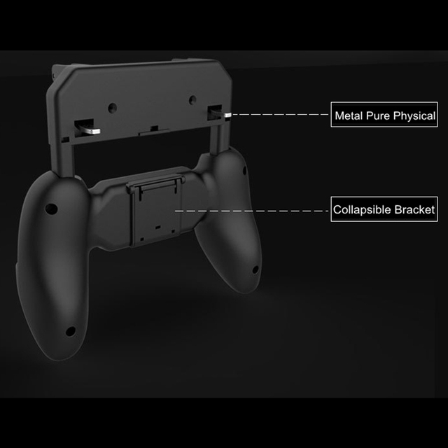 Free Fire PUBG Mobile Controller Gamepad with L1 R1 Triggers PUGB Phone Game Pad L1R1 Buttons Grip for Android iPhone Smartphone