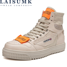 LAISUMK Men Casual Shoes Canvas Summer Breathable Comfortable Lace Up Driving Zapatos Hombre