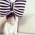 Hot in INS  Japan black and white striped bow pillow for car pillow cushion pillow for kids room