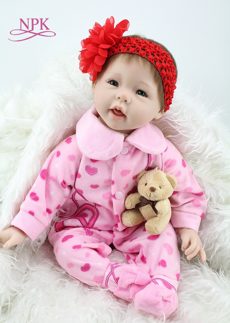 NPK 22Inch Silicone Reborn Babies Doll Bonecas Princesas Realistic Doll For Girl Toys Lifestyle For Christmas