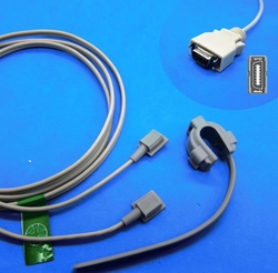 Sensor multifuncional do estilo spo2 do cabo longo para o monitor paciente da mediana colin nellcor