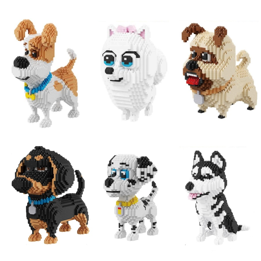 Balody Diamond Blocks Dog Model Small bricks Dachshund Toy Assembly brinquedos Action figures Kids Gifts toys for children 16014 10pcs bag toy bag small pet shop figures toys animal cat dog patrulla canina action figures kids toys gift