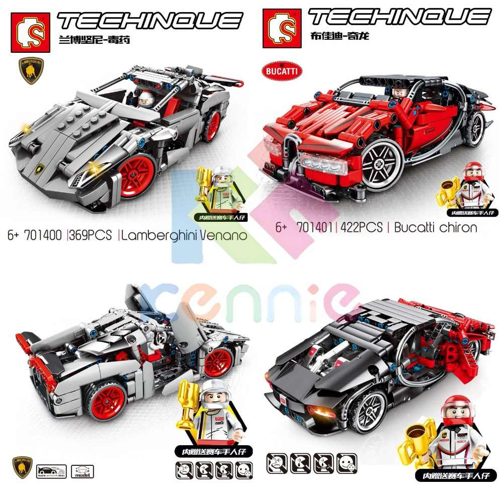 RC Technic Super Racers Series Speed Champions compatible pull  car Blocks Racing Building models children Road block toys
