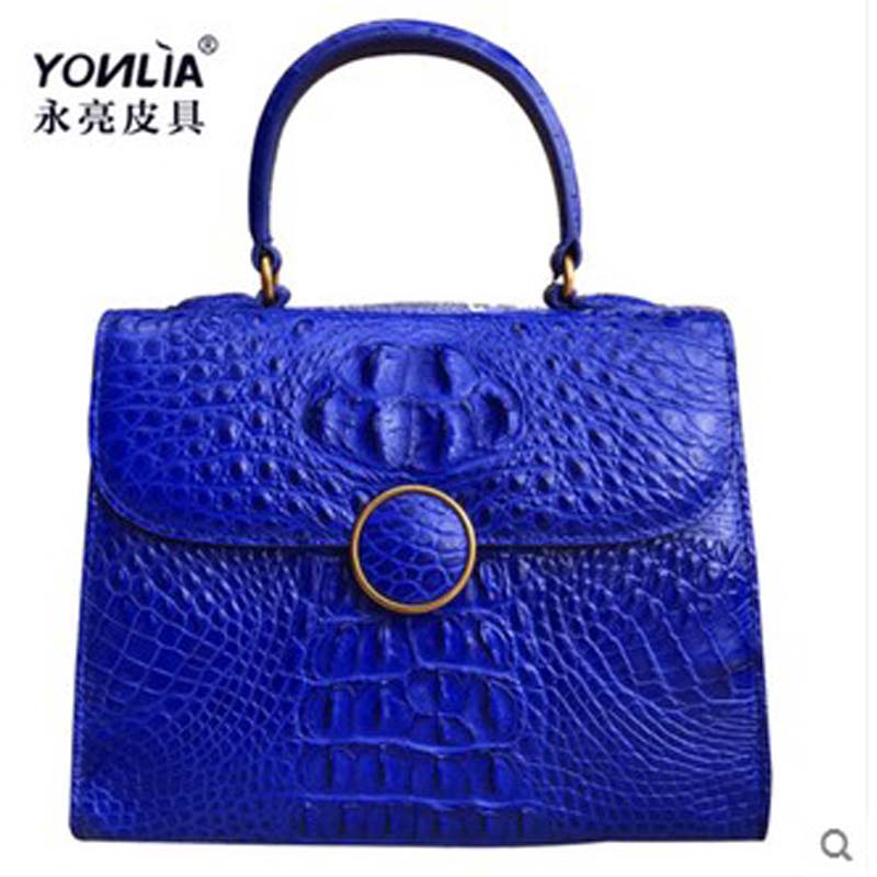 yongliang new crocodile leather skull fashion section ladies handbag crocodile leather single shoulder Messenger women bag yongliang 2017 new crocodile leather belly single shoulder men handbag crocodile leather crossbody fashion all match men bag