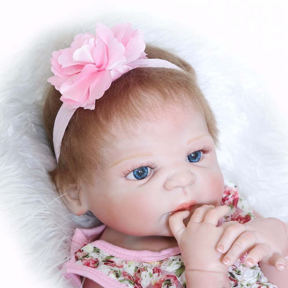 Full Silicone Reborn Baby Girl Dolls Lifelike Newborn Girl