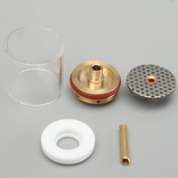 Hot Sale 5PCS 1.0/2.0/1.6/2.4/3.2mm TIG Welding Torch Gas Lens Pyrex Cup Kit For WP 9 20 Series