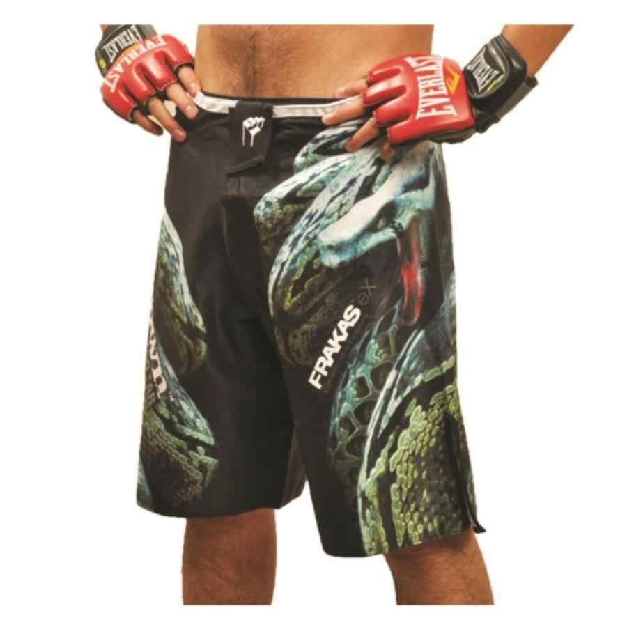 Suotf frete grátis muay thai mma boxing shorts muay thai calças sanda shorts branco e preto muay thai calças de boxe