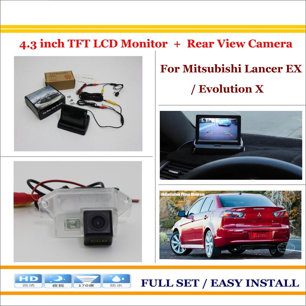 Mitsubishi Rear View Camera Wiring Diagram Display Reversing Monitor Tft Lcd Liislee For Lancer Ex Evolution X Auto On Relay