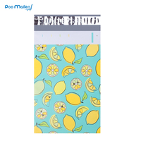 100pcs 15x23cm 6x9 Inch Lemon Fruit Pattern Poly Mailers Self Seal Plastic Envelope Bags