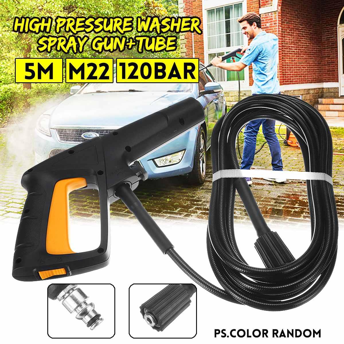 High Pressure Washer 5M M22 Spray Gun Tube Car Cleaning Tools Quickly 60 for LAVOR Machine Car Washer Pressure Gun Accessories