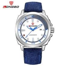 LONGBO hombres Del Deporte Del Cuarzo Reloj de Pulsera de Nylon Masculina azul Reloj Relojes Impermeables Del Alpinismo Al Aire Libre Masculino de La Manera Esportivo