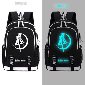 Image 4 - Sailor Moon Luminous Luna Cosplay Backpack Rucksack Women Men Japan Anime Laptop Schoolbag Mochila Bookbag
