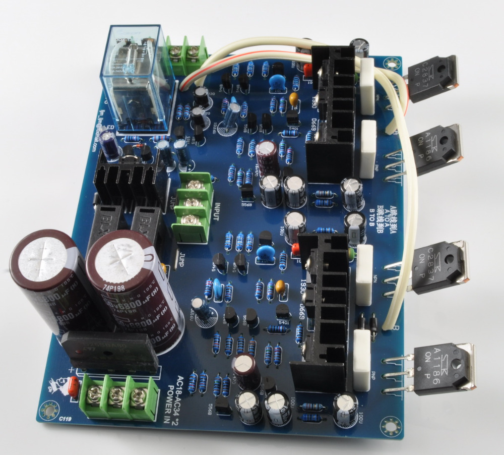 LJM MX100 SANKEN 2SA1186 2SC2837 AUDIO Dual-channel Power Amplifier Board