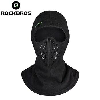 ROCKBROS термальность Лыжный Спорт ветрозащитный шарф шапки Теплый Сноуборд  Air уход за кожей лица маска зимние мотоциклетные Cycing велосипед Щит .. 67480f9ba0b