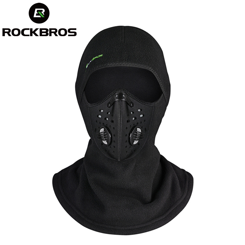 ROCKBROS Thermal Skiing Windproof Scarf Caps Warm Snowboard Air Face Mask Snow Winter Motorcycle Cycing Bike Shield Bib Hats
