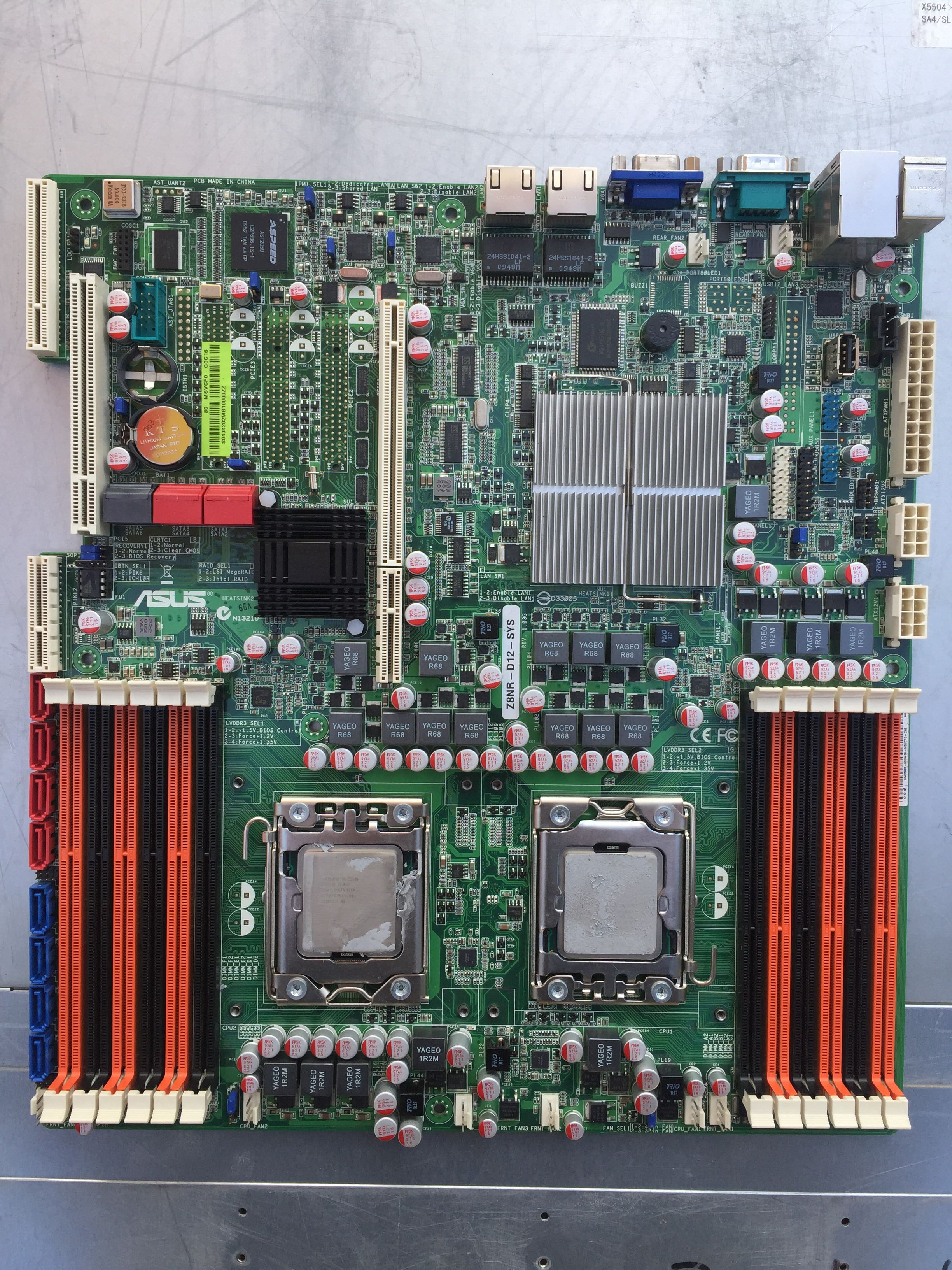 ASUS Z8NR-D12-SYS Server motherboard Socket 1366 DDR3 USB2.0  X5650 X58 desktop motherboard Free shipping(China)