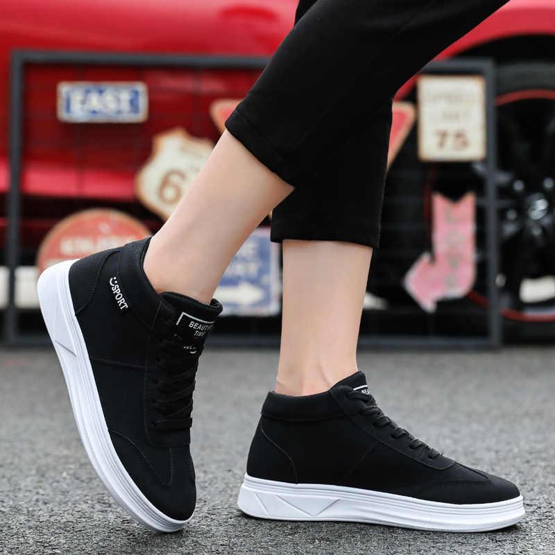 WOLF, DIE 2020 Frühling Männer Schuhe Koreanische Version Der Trend High-top Schuhe Männlichen Weißen Turnschuhe Casual Wilden Schuhe flache krasovki A-006