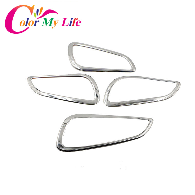 Color My Life 4Pcs/Set Stainless Steel Inner Door Handle Decoration Trim Sticker For Ford Focus 3 4 MK3 4 MK4 2012 - 2017