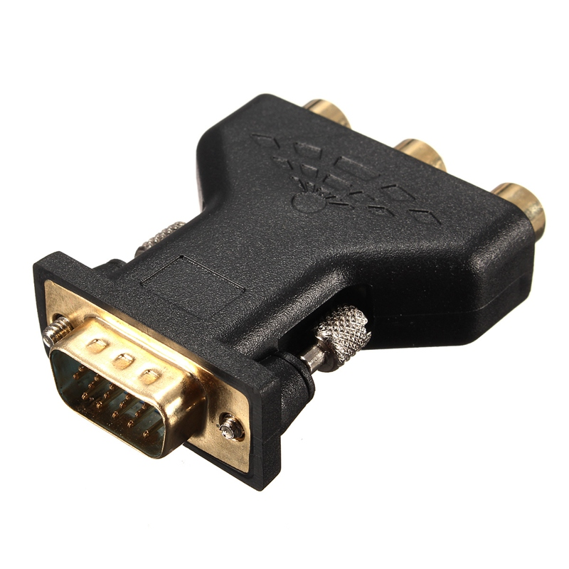 3 RCA RGB Video Female To HD15-Pin VGA Component Video Jack Adapter Connecter Adapter Copper and Gold Plated hwexpress hot 1 5m vga 15 pin male to 3 rca rgb male video cable adapter