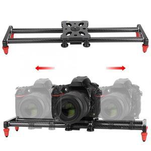 Image 1 - 42 سنتيمتر حامل كاميرا متحرك ألياف كاميرا الكربون المسار المنزلق فيديو استقرار DSLR السكك الحديدية كاميرا التصوير المنزلق كاميرا مع 1/4 مسامير