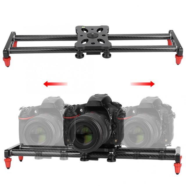 42cm 카메라 슬라이더 탄소 섬유 카메라 트랙 슬라이더 비디오 안정기 DSLR 레일 캠코더 촬영 슬라이더 카메라 1/4 나사