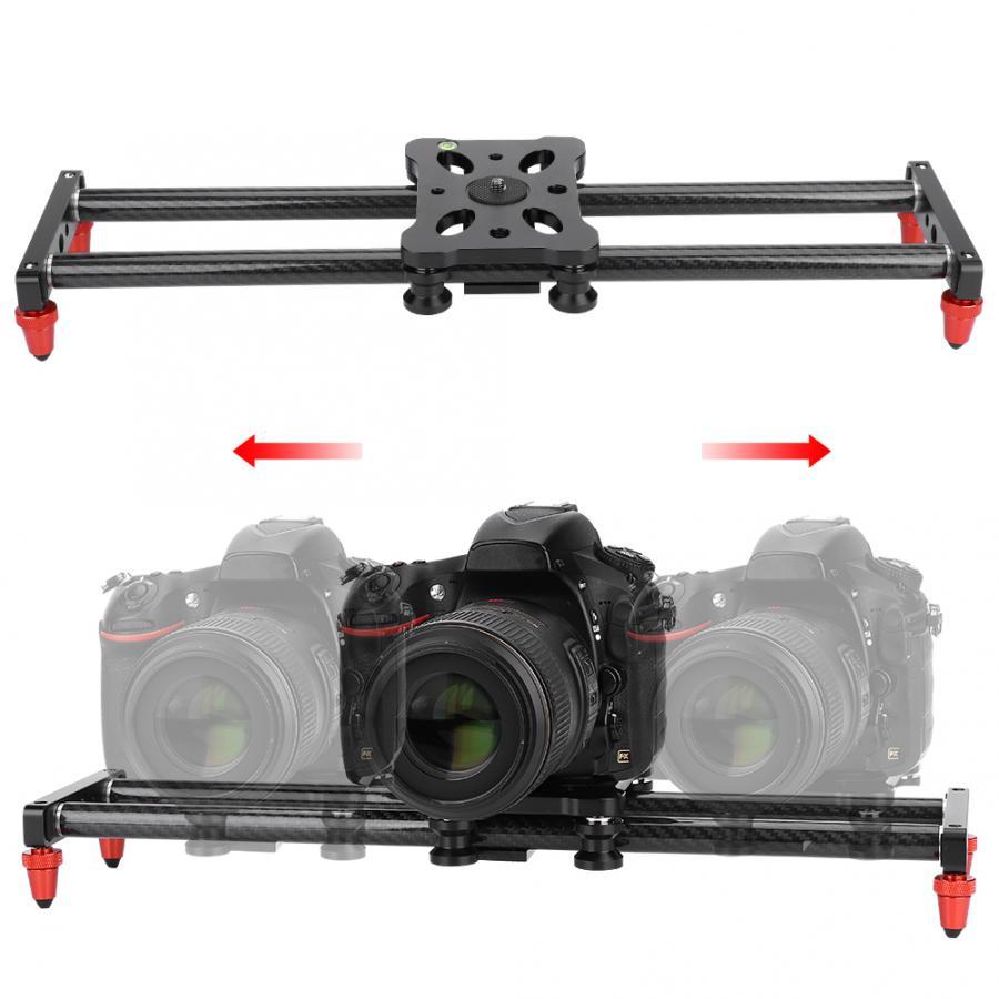 42cm caméra curseur en Fiber de carbone caméra piste curseur stabilisateur vidéo DSLR Rail caméscope tournage curseur caméra avec 1/4 vis