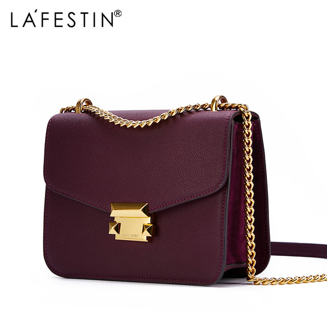 LA FESTIN elegant geometric bag Luxury Shoulder bags Designer Genuine Leather Crossbody Bags For Women 2018 Messenger Bags