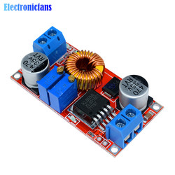Регулируемый понижающий модуль зарядного устройства CC/CV, Max 5A, XL4015, модуль преобразователя зарядного устройства литиевой батареи, от 0,8 до 30 ...