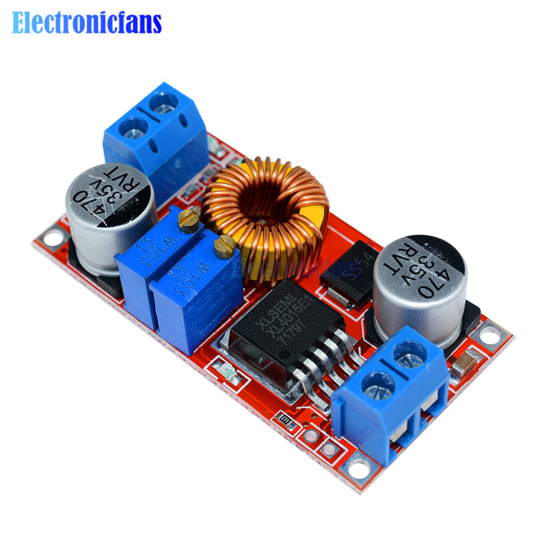 CC/CV Adjustable Max <font><b>5A</b></font> Step Down Buck Charging Board XL4015 Lithium Battery Charger Converter Module <font><b>DC</b></font>-<font><b>DC</b></font> 0.8-30V To <font><b>5</b></font>-32V image