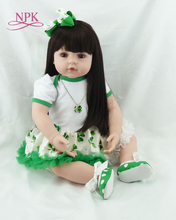bigs 60cm 6-9Month size Reborn toddler girl doll Baby Doll Toys bebe reborn with Long hair Realistic Baby Dolls 100% Handmade