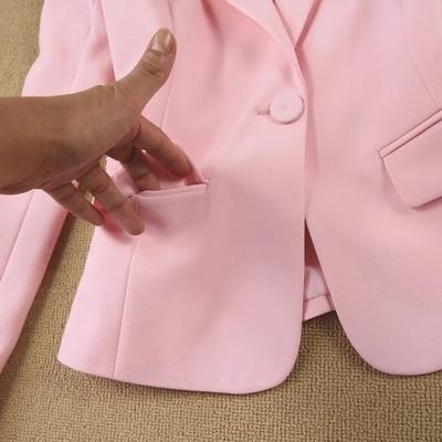 Moda set Profissional mulheres pant ternos temperamento moda Senhora Do Escritório blazer de manga longa com calças plus size desgaste do trabalho - 4