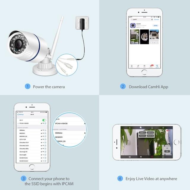Onvif HD 1080P IP Camera Outdoor WiFi Security Camera 720P 960P Surveillance 5