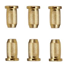 OOTDTY  Guitar String Mounting Ferrule Small Knurled Thru Body for Electric 6
