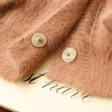 Autumn and winter NEW Mink Cashmere Women fashion lantern sleeve loose sweater, knitted large code Mink Cashmere Sweater jacket